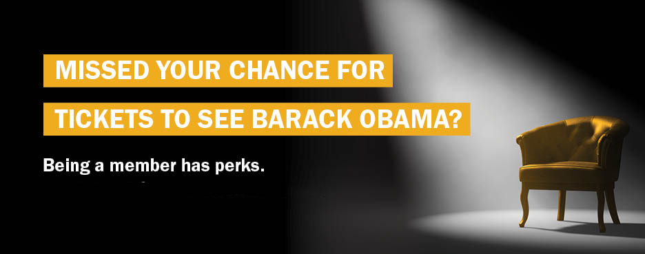 Win Tickets to see Barack Obama